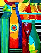 Fruit And Wine Originals - Wine to Dine by Carolyn Dubuque