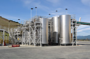 Fermentation Photos - Wine Vats Outdoors by Brandon Bourdages