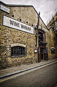 Warehouses Posters - Wine Wharf Poster by Heather Applegate