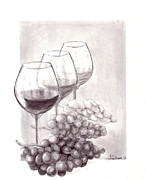 Fruit And Wine Originals - Wine Wine Wine by Joyce Blank