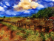 Winery Photography Digital Art Posters - Winery Poster by Cary Shapiro