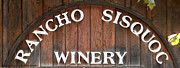 Wine Grapes Prints - Winery Sign Print by Barbara Snyder