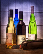 Colorful Bottles Framed Prints - Wines Framed Print by Tom Mc Nemar