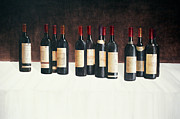 Wine Bottle Paintings - Winescape Red 2003 by Lincoln Seligman