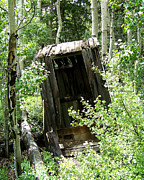 Ghost Town Outhouse Prints - Winfield Outhouse Print by Laurie Klein