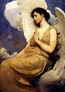 Winged Figure Posters - Winged Figure Poster by Pg Reproductions