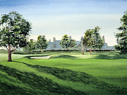 Us Open Painting Framed Prints - Winged Foot West 18Th Hole Framed Print by Bill Holkham