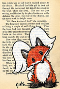 Kim Niles Prints - Winged Fox Print by Kim Niles