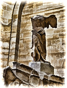 Winged Victory Of Samothrace Prints - Winged Victory - Louvre Print by Jon Berghoff