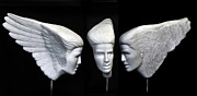 Carved Sculptures - WingFace by George Dapsevicius