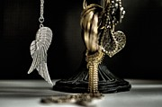 Gold Necklace Metal Prints - Wings Of Desire I Metal Print by Marco Oliveira