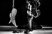 Silver Necklace Art - Wings Of Desire II by Marco Oliveira