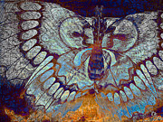 Insects Mixed Media Posters - Wings of Destiny Poster by Christopher Beikmann
