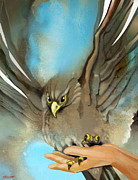 Bird Of Prey Art Paintings - Wings of Eagles by Patricia Howitt