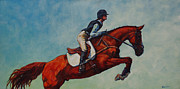 Show Horse Paintings - Wings by Patricia A Griffin