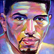 Boxer Portrait Paintings - Winky Wright by Robert Phelps