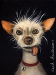 Show Paintings - Winner of the Ugly Dog Contest 2011 by Leah Saulnier The Painting Maniac