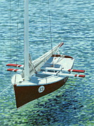 Yacht Paintings - Winners Circle by Danielle Perry 