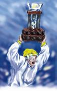 Recreational Sport Posters - Winning A Trophy In Hockey Poster by Design Pics Eye Traveller