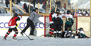 Pond Hockey Photos - Winning Goal by Rob Andrus