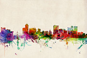 City Digital Art - Winnipeg Skyline Canada by Michael Tompsett