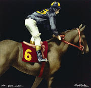 Kentucky Derby Paintings - Win...Place...Show... by Will Bullas
