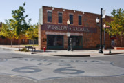 Historic Statue Framed Prints - Winslow Arizona - Such a fine sight to see Framed Print by Christine Till
