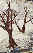 Winter Trees Tapestries - Textiles Posters - Winter Along the River Poster by Linda Beach