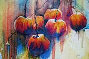 Drippy Painting Framed Prints - Winter Apples Framed Print by Jani Freimann