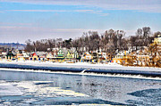 Schuylkill Prints - Winter at Boathouse Row in Philadelphia Print by Bill Cannon