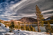 Lake Tapestries Textiles - Winter at Ellery Lake by Cat Connor