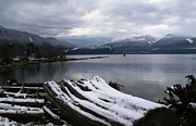 Winter-landscape Pyrography - Winter At Howe Sound BC/Canada by Geegee W
