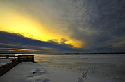 Michigan Art - Winter at Lake Cadillac by Terri Gostola