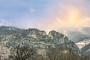 Razorback Photos - Winter at Seneca Rocks by Mary Almond