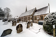 Graveyard Digital Art Prints - Winter at St Paul Print by Adrian Evans