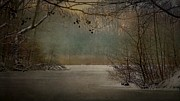 Dream Scape Originals - Winter at the lake by Hugo Bussen