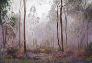 Fog Mist Pastels Prints - Winter at Wickham Print by Lynda Robinson