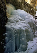 Zapata Prints - Winter at Zapata Falls Print by Ellen Lacey
