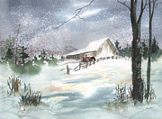 Sean Seal - Winter Barn and Tractor