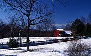 Nature Pictures Posters - Winter Barn Poster by Skip Willits