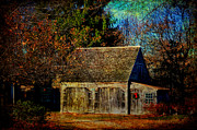 Shed Digital Art Metal Prints - Winter Barn Metal Print by Tricia Marchlik