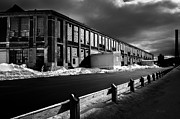 Lewiston Metal Prints - Winter Bates Mill Metal Print by Bob Orsillo