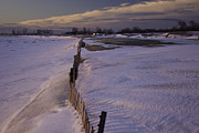 Snow Drifts Photos - Winter Beach by Daniel L Burlingame