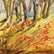 Warm Tones Drawings - Winter Berries by John  Williams
