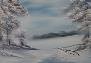Winterscape Painting Originals - Winter Bliss by John Koehler
