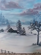Kathy Livermore Art - Winter Blues by Kathy Livermore