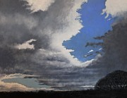 Storm Clouds Drawings Prints - Winter Blues Print by Paul Horton