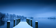 Coniston Art - Winter Blues by Simon Wrigglesworth