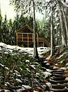 Cynthia Langford - Winter Cabin