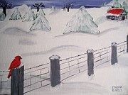 Winter Cabin  Print by JoHaley Studio